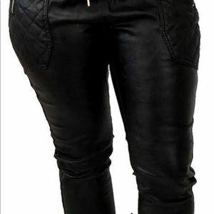 Soho babe New York City faux leather black